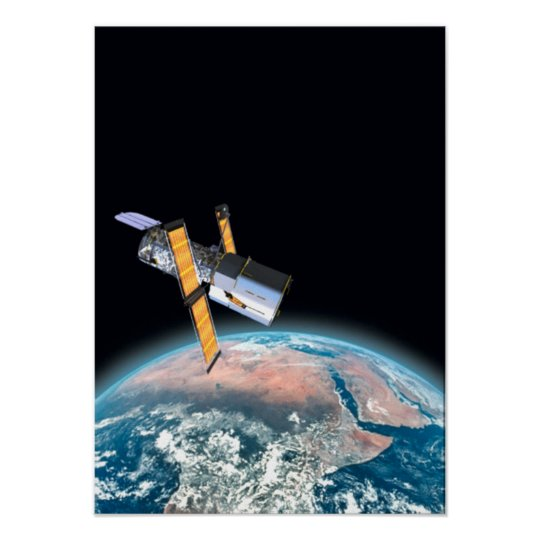 Hubble Space Telescope Small Space Poster/Print Poster