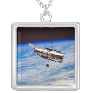 Hubble Space Telescope Square Pendant Necklace
