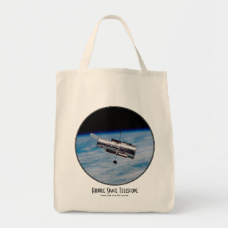 Hubble Space Telescope Tote Bag with Title