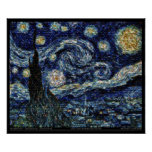 """Hubble Starry Night (24""""x20"""") Poster"""
