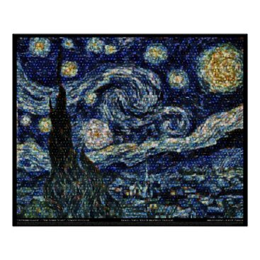 "alexparker Hubble Starry Night (29.3""x24"") Poster"