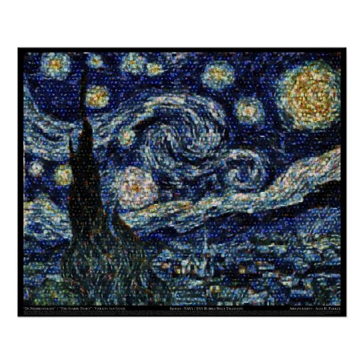 "Hubble Starry Night (29.3""x24"") Posters"