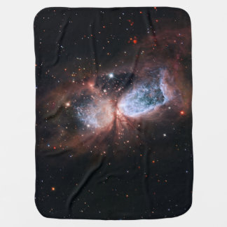 Hubble:Subaru Composite Image of Star-Forming Baby Blankets