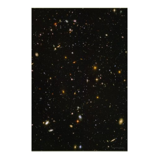 hubble ultra deep field 20x30 20x30 poster zazzle. Black Bedroom Furniture Sets. Home Design Ideas