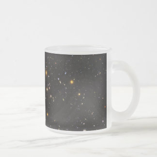 Hubble Ultra Deep Field View of 10,000 Galaxies Frosted Glass Coffee Mug