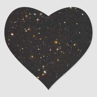 Hubble Ultra Deep Field View of 10,000 Galaxies Heart Sticker