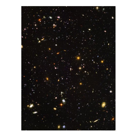Hubble Ultra Deep Field View of 10,000 Galaxies Postcard