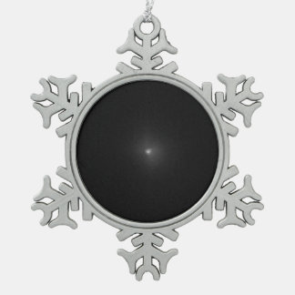 Hubble View of Comet Tempel 1, Before Impact Snowflake Pewter Christmas Ornament