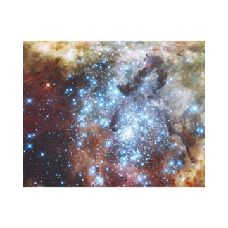 Hubble Watches Star Clusters on a Collision Course Canvas Print