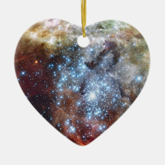 Hubble Watches Star Clusters on a Collision Course Ceramic Ornament