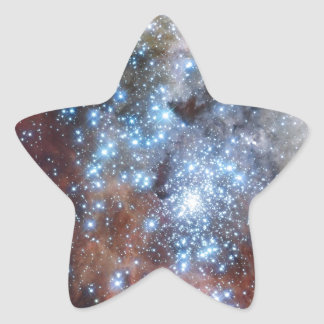 Hubble Watches Star Clusters on a Collision Course Star Sticker