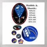 Hubble y la lanzadera poster