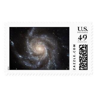 Hubble's Largest Galaxy Portrait  Postage Stamp