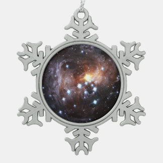 Hubble's Latest Views of Light Echo from Star V838 Snowflake Pewter Christmas Ornament