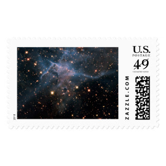 Hubble's 'Mystic Mountain' - Deep Space Postage Stamp