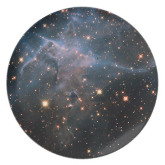 Hubble's Wide View of 'Mystic Mountain' in Infrare Party Plates