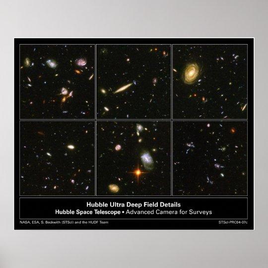 HubbleUltraDeepFieldDetails-2004-07c Poster