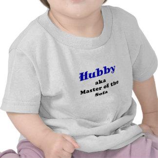 Hubby Master of the Sofa Tshirts