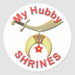 HUBBY  SHRINES ROUND STICKER