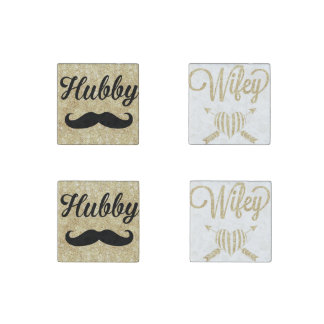 Hubby & Wifey Magnet Set