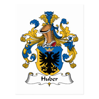 Huber Family Crest Postcard