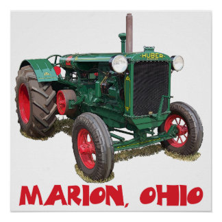 Huber Tractor - Marion, Ohio Poster
