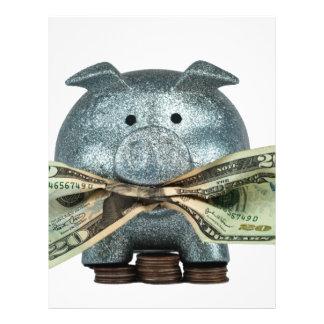 """Hucha de plata que come el dinero folleto 8.5"""" x 11"""""""