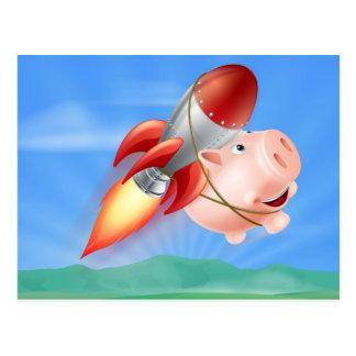 Hucha de Rocket del vuelo Tarjeta Postal
