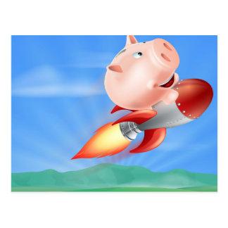 Hucha de Rocket Tarjeta Postal