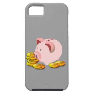 Hucha del dibujo animado y monedas de oro iPhone 5 Case-Mate fundas