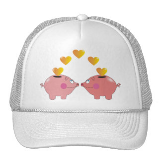 Huchas del dibujo animado en gorras lindos del