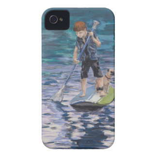 Huck 2015 Boy Adventurer and his Pug dog iPhone 4 Covers