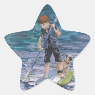 Huck 2015 Boy Adventurer and his Pug dog Star Sticker