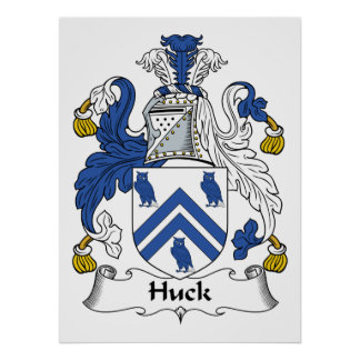 Huck Family Crest Poster