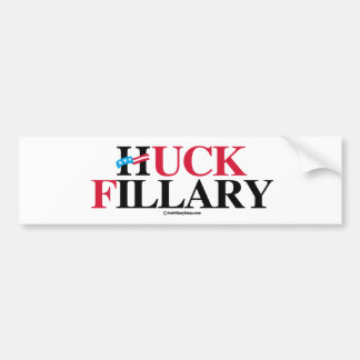 Huck Fillary - Anti-Hillary - .png Pegatina Para Auto