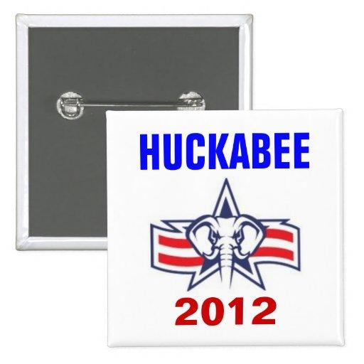 Huckabee 2012 2 inch square button
