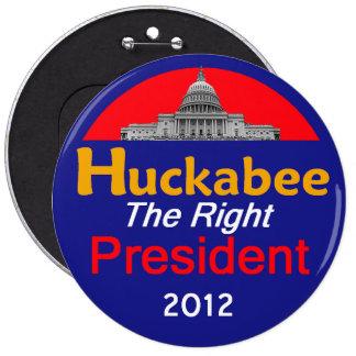 """HUCKABEE 2012 6"""" Button"""