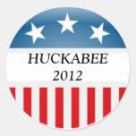 Huckabee 2012 etiquetas redondas