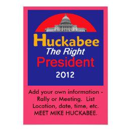 HUCKABEE 2012 Invitation
