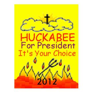 HUCKABEE 2012 Postcard