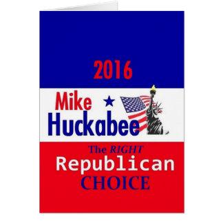 HUCKABEE 2016 GREETING CARD