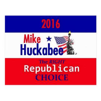 HUCKABEE 2016 POST CARD