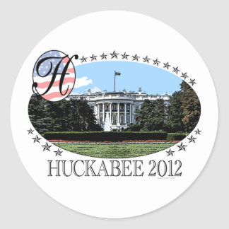 Huckabee White House 2012 Classic Round Sticker