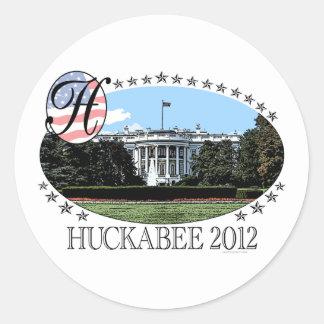 Huckabee White House 2012 Classic Round Sticker