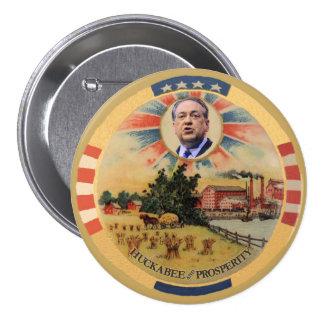 Huckabee y prosperidad pin redondo 7 cm