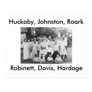 Huckaby, Johnston, Roark, Robinett, Davis, Hardage Postcard