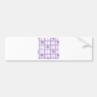 huckelberry plaid bumper sticker