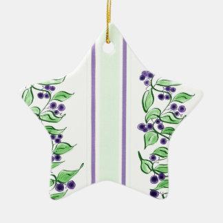 Huckelberry stripes ceramic ornament