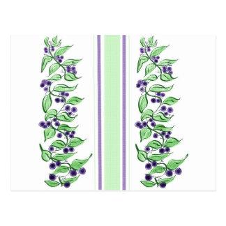 Huckelberry stripes postcard