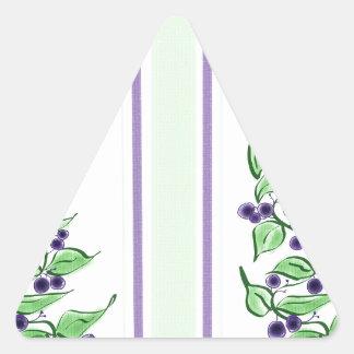 Huckelberry stripes triangle sticker